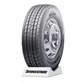 Pneu aro 17.5 215/75R17.5 Bridgestone M814 126/124M - LISO/TRAÇÃO 12 Lonas